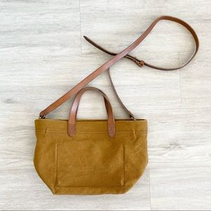 Madewell Zip Top Transport Small Mini Canvas Tote